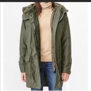 Gap green parka jacket XS
